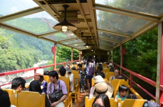 Open car train ride