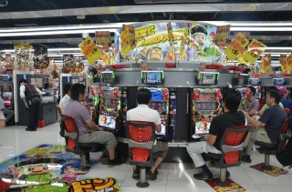 Slot machines in Akihabara (Electronic town)