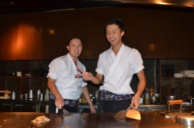 Our amazing Chef and Sous Chef at Teppenyaki Ten