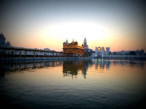 Sunrise over Golden temple
