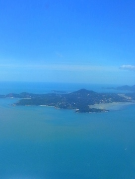 Flying into Koh Samui (Gulf of Thailand)