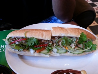 One last Banh Mi sandwich