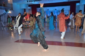 The groom does not mess around about dancing...