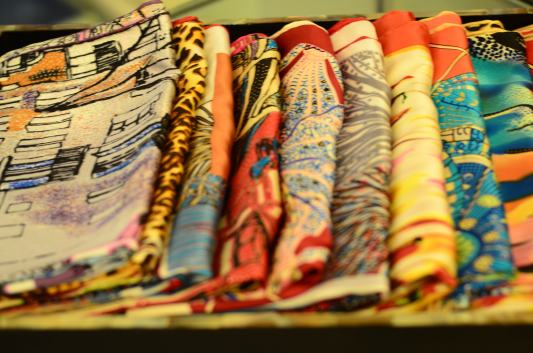 Silk scarves in Hanoi